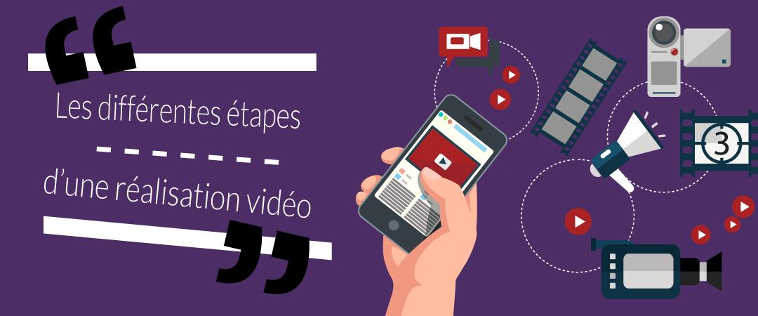 Quelles sont les différentes étapes de réalisation d'une vidéo ?